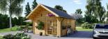 Casa in legno SCOOT (44 mm) 27 mq + 10 mq di mezzanino visualization 4