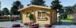Casa in legno NINA due stanze (44 mm) 6x6 m 36 mq visualization 3
