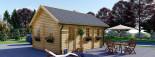 Casa in legno SCOOT (44 mm) 27 mq + 10 mq di mezzanino visualization 7