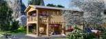 Casa in legno TOULOUSE (66 mm) 100 mq + 20 mq di porticato visualization 9
