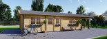 Casa in legno LINCOLN (66 mm) 60 mq + 10 mq di porticato visualization 6