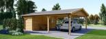 Tettoia auto in legno + ripostiglio attrezzi (44 mm) 6x7.75 m visualization 7