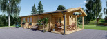 Casa in legno coibentata LINCOLN 60 mq + 10 mq di porticato visualization 8