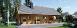Casa in legno AURA (66 mm) 100 mq + 35 mq di porticato visualization 7