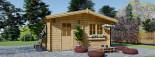 Casa in legno NINA due stanze (44 mm) 6x6 m 36 mq visualization 2