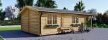 Casa in legno coibentata ARGO 35 mq + 8 mq di porticato visualization 5