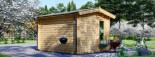 Casetta in legno coibentata POOLHOUSE 4x3 m 12 mq visualization 4