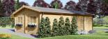 Garage in legno triplo (44 mm) 9x6 m  visualization 7