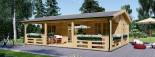 Casa in legno AMELIA (44 mm) 32 mq + 20 mq di porticato visualization 2