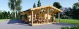 Casa in legno LINCOLN (66 mm) 60 mq + 10 mq di porticato visualization 1