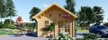 Casa in legno SCOOT (44 mm) 27 mq + 10 mq di mezzanino visualization 3