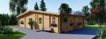 Casa in legno coibentata RIVIERA 100 mq + 20 mq di porticato visualization 9