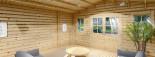 Casetta in legno CLARA con tettoia integrata (44 mm) 7x4 m 28 mq visualization 8