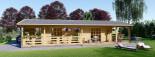 Casa in legno coibentata TOSCANA 53 mq + 29 mq di porticato visualization 9