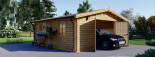 Garage in legno (44 mm) 6x6 m  visualization 1