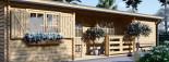 Casa in legno coibentata UZES 70 mq visualization 7