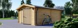 Garage in legno (44 mm) 4x6 m  visualization 5