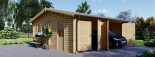 Garage in legno doppio ALTERNATIVE (44 mm) 6x6 m visualization 1