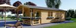 Casa in legno coibentata ARGO 35 mq + 8 mq di porticato visualization 3