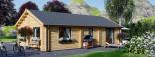 Casa in legno coibentata GRETA 54 mq visualization 6