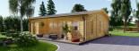 Casa in legno MILA (44 mm) 56 mq visualization 1