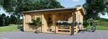 Casa in legno coibentata NANTES 24 mq + 3.45 mq di porticato visualization 2