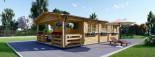 Casa in legno HYMER (66 mm) 42 mq + 10 mq di porticato visualization 2