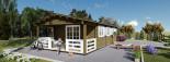 Casa in legno coibentata HYMER 42 mq + 10 mq di porticato visualization 8