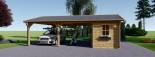 Tettoia auto in legno + ripostiglio attrezzi (44 mm) 6x7.75 m visualization 3