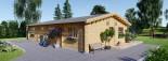 Casa in legno coibentata LIMOGES 103 mq visualization 6