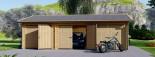 Garage in legno triplo (44 mm) 9x6 m  visualization 4