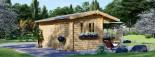 Casetta da giardino OSLO (44 mm) 5x4m 20 mq visualization 3