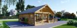 Casa in legno ANGERS (44 mm) 36 mq + terrazza 19 mq  visualization 1