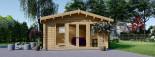Casetta in legno da giardino MIA (44+44 mm, coibentata), 5.5x5.5 m, 30 mq visualization 3
