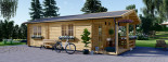 Casa in legno coibentata ARGO 35 mq + 8 mq di porticato visualization 7