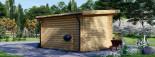 Casetta da giardino a tetto piatto LILLE (34 mm) 4x3 m 12 mq visualization 4