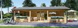 Casa in legno AMELIA (44 mm) 32 mq + 20 mq di porticato visualization 3