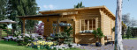Casetta da giardino HELEN (44 mm) 24 mq + terrazza 12.5 mq visualization 3