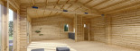 Casa in legno MARINA (44 mm) 8x6 m 48 mq visualization 10