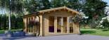 Casetta in legno da giardino MIA (44+44 mm, coibentata), 5.5x5.5 m, 30 mq visualization 2