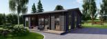 Casa in legno MILA (44 mm) 56 mq visualization 9