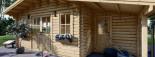 Casetta in legno CLARA con tettoia integrata (44 mm) 7x4 m 28 mq visualization 7