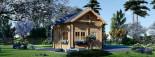 Casa in legno AVIGNON (44 mm) 20 mq + 16 mq di mezzanino visualization 3