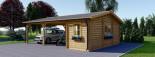 Tettoia auto in legno + ripostiglio attrezzi (44 mm) 6x7.75 m visualization 4