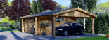 Garage in legno doppio (44 mm) 6x6 m + tettoia auto in legno 3x6 m visualization 8