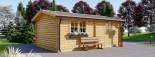 Garage in legno (44 mm) 4x6 m  visualization 6