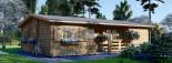 Casa in legno coibentata UZES 70 mq visualization 1