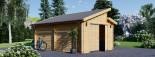 Garage in legno TWIN (44 mm) 4x6 m  visualization 5