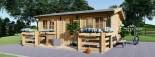 Casa in legno ALTURA (44 mm) 31 mq + terrazza 9.2 mq  visualization 3