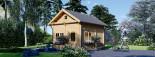 Casa in legno AVIGNON (44 mm) 20 mq + 16 mq di mezzanino visualization 1
